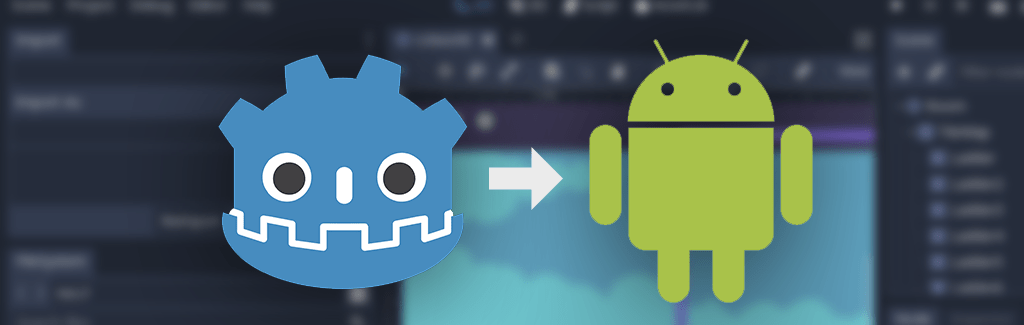 Image that displays Android and godot logo for export